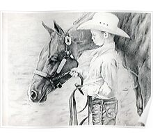 Youth Showmanship Quarter Horse Portrait Poster