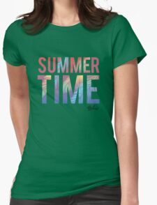 Summer time typography Womens Fitted T-Shirt