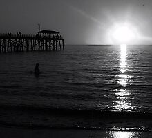 B & W Sunset by Paula McManus