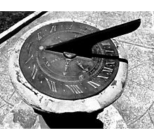 The sun dial Photographic Print