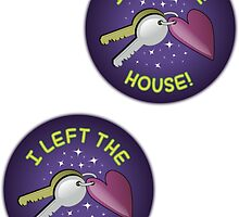 Spoonie Stickers - I left the house! (medium) by Parkertron