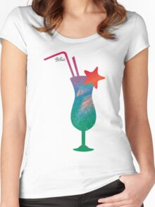 Summer caribbean cocktail Women's Fitted Scoop T-Shirt