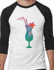 Summer caribbean cocktail Men's Baseball ¾ T-Shirt