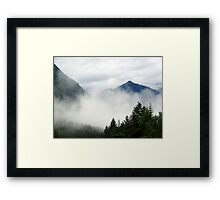 Mt. Terry Fox Framed Print
