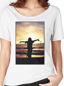 Sunset Silhouette II Women's Relaxed Fit T-Shirt