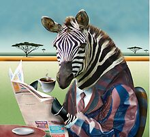 Zebra Morning by Russel Ball