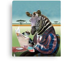 Zebra Morning Canvas Print