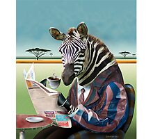 Zebra Morning Photographic Print