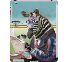 Zebra Morning iPad Case/Skin