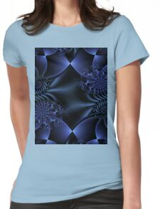 Blue Fractal T Womens Fitted T-Shirt