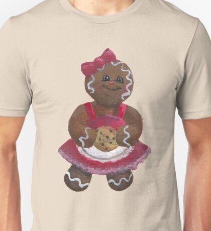 Gingerbread girl wants a Cookie Unisex T-Shirt