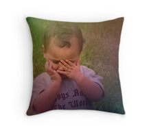 i can't even look... Throw Pillow