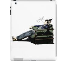 Sherlock - BORED (color version) iPad Case/Skin
