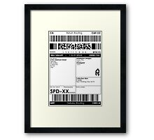 >Deliver to the McFly Residence Framed Print