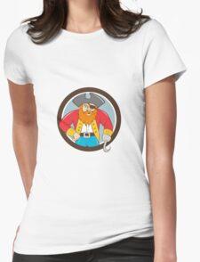 Captain Hook Pirate Circle Cartoon T-Shirt