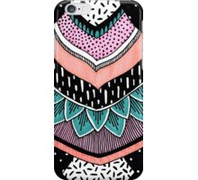 Pink & Coral Feather Pattern iPhone Case/Skin