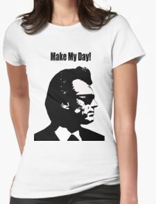 Clint Eastwood Dirty Harry Make My Day Womens Fitted T-Shirt