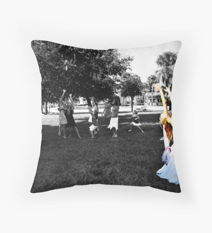 Throwing the bouquet Throw Pillow