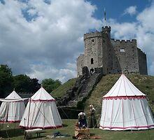 Cardiff Castle Encampment by Douglas E.  Welch