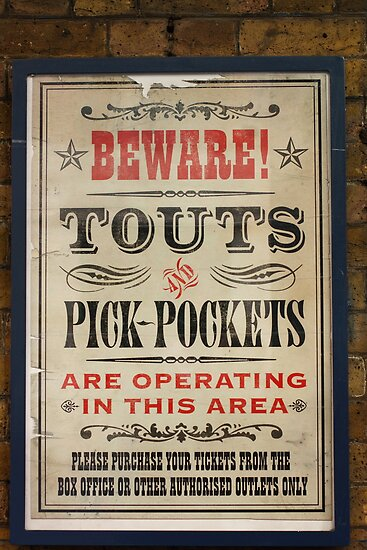 Touts and Pick-Pockets by Ed Sweetman