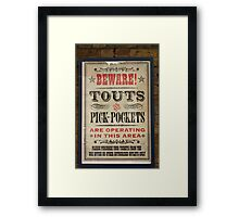 Touts and Pick-Pockets Framed Print