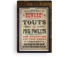 Touts and Pick-Pockets Canvas Print