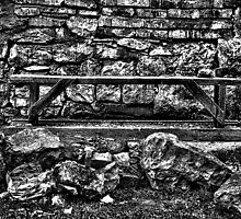 Abandoned Bench Fine Art Print by stockfineart