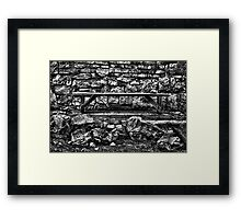 Abandoned Bench Fine Art Print Framed Print