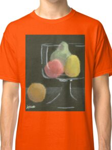 Abstract Fruit on Dark Background Still life Classic T-Shirt