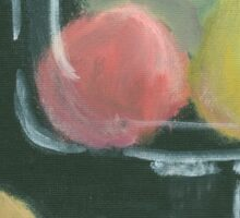 Abstract Fruit on Dark Background Still life Sticker