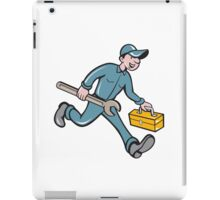 Mechanic Carrying Toolbox Spanner Isolated Cartoon iPad Case/Skin