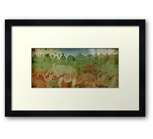 Lost City of Elephants Earth Framed Print