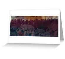 Lost City of Elephants Dusk Greeting Card