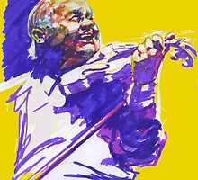 Jazz portraits-S. Grappelli by Francesca Romana Brogani