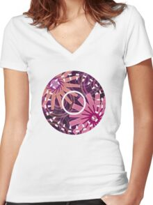 PATTERN-1 Women's Fitted V-Neck T-Shirt
