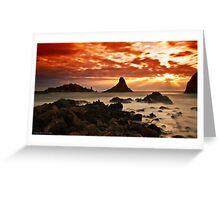 Acitrezza sunrise Greeting Card