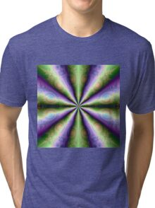 10 Cones in Green and Purple Tri-blend T-Shirt
