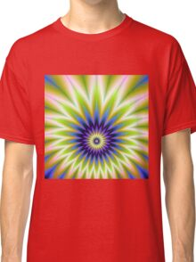 Green and Blue Floral Explosion Classic T-Shirt