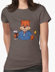 Squirrel Dab (No Text) Womens Fitted T-Shirt
