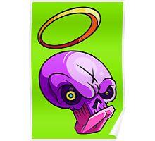 Good Bad Skull Poster