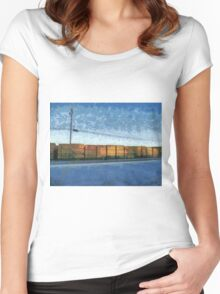 Waiting Hardwood  Women's Fitted Scoop T-Shirt