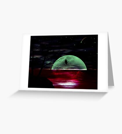 The other side of silence Greeting Card