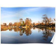 River Wey, Pyrford, Surrey Poster