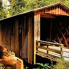 Elder's Mill Covered Bridge - 1897 by Janie Oliver