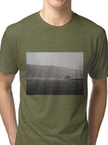 Lochranza Castle in a Storm Tri-blend T-Shirt