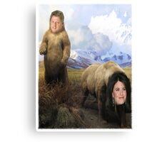 Bill and Monica Bears Canvas Print