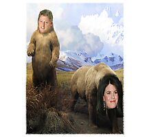 Bill and Monica Bears Photographic Print