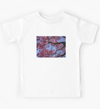 Pink Blossoms, Tabebuia Tree Kids Tee