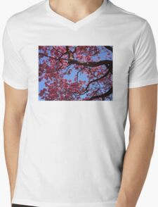 Pink Blossoms, Tabebuia Tree Mens V-Neck T-Shirt