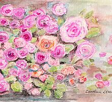 Pink Roses by Caroline  Lembke